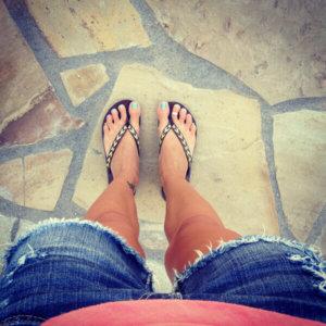 Selfie aos pés