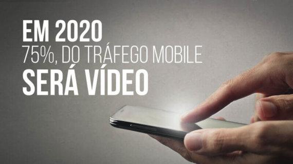Em 2020 75% do trafego mobile será vídeo